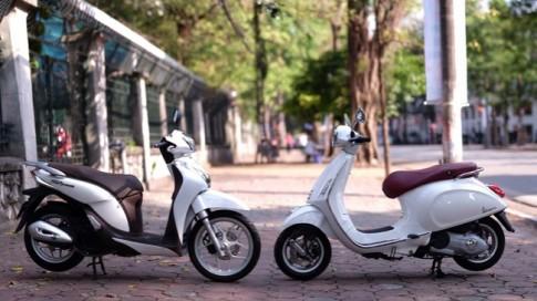 So sanh Honda SH Mode va Vespa Primavera danh cho nu