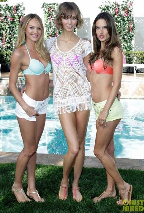 Thiên thần Victoria's Secret diện bikini đa sắc