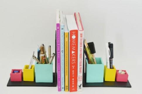 Tự chế chặn sách kiêm ống đựng bút 2 trong 1 độc đáo