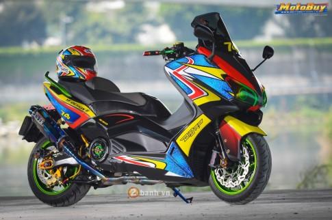 Yamaha TMax độ đầy sang chảnh với phiên bản Rainbow