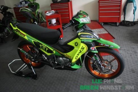 Yamaha Z125 sơn airbrush tem đấu cực phong cách