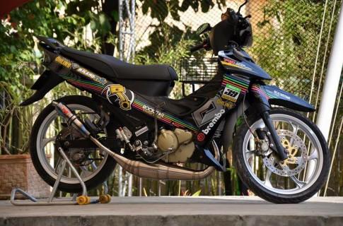Yamaha Z125 sơn AirBrush tem đấu nổi bật