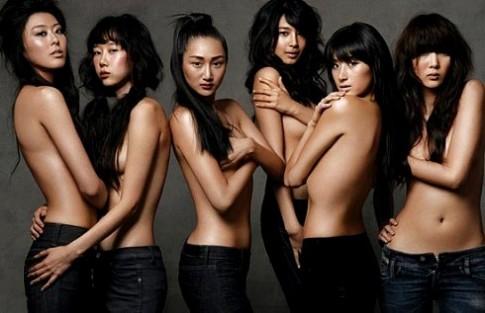 6 siêu mẫu Hàn bán khỏa thân trên Arena