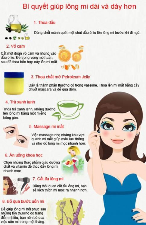 8 bí quyết giúp lông mi dài và dày hơn