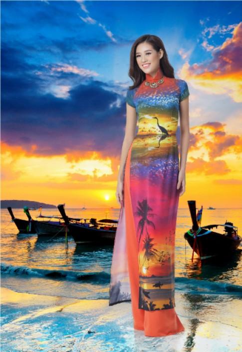 Á khôi Khánh Vân duyên dáng trong BST 'Nét đẹp Á đông'