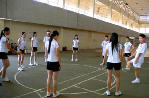 Ảnh Miss Sports giao lưu cùng các tuyển thủ quốc gia