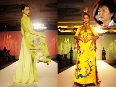 Áo dài Việt 'đọ sắc' với hanbok Hàn Quốc