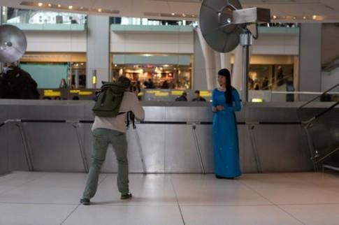 Áo dài Việt triển lãm tại Mỹ