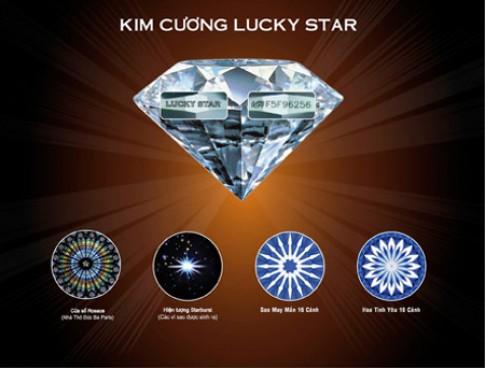 Bán 5 viên kim cương Lucky Star dạng rời