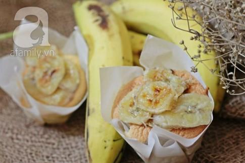 Bánh muffin chuối thơm phức ăn sáng ngon ngất ngây!