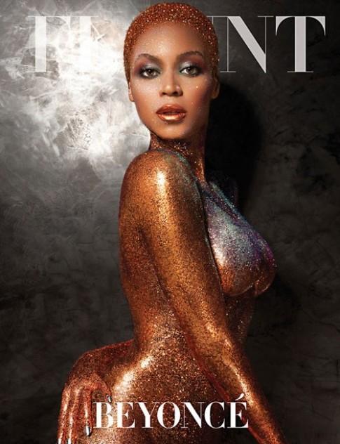 Beyonce khỏa thân phủ nhũ vàng đầy người