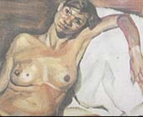 Bức tranh Kate Moss nude khi mang bầu