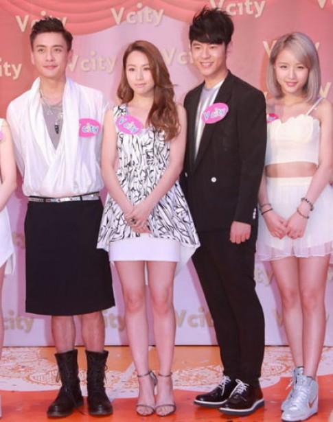 Các tài tử TVB từng mặc váy đi sự kiện