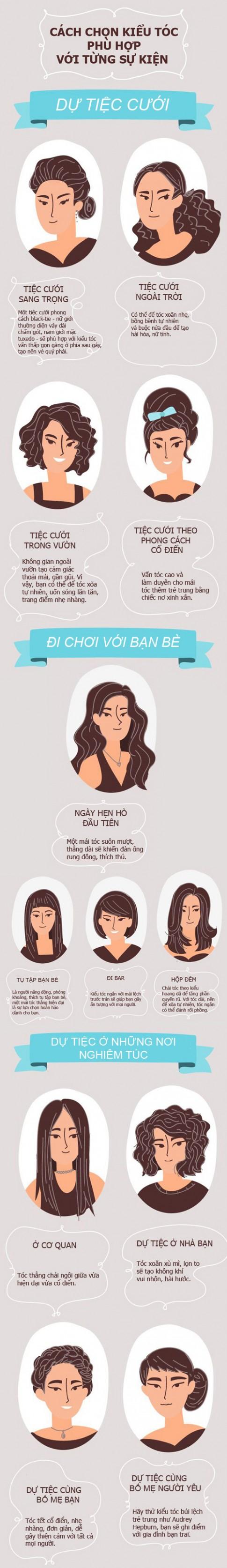Cách chọn kiểu tóc phù hợp với từng sự kiện