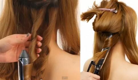 Cách quấn tóc tròn đơn giản mà sang trọng