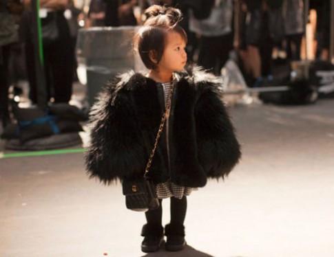Cháu gái Alexander Wang, ngôi sao thời trang đường phố 4 tuổi
