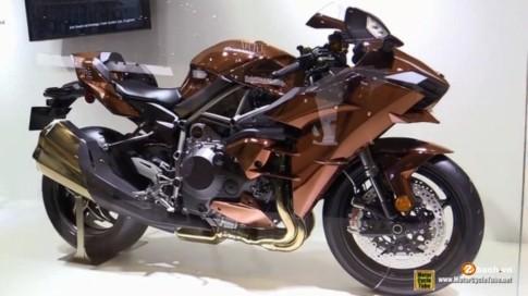 [Clip] Cận cảnh Kawasaki Ninja H2 2016 phiên bản Copper Mirror đẹp mắt