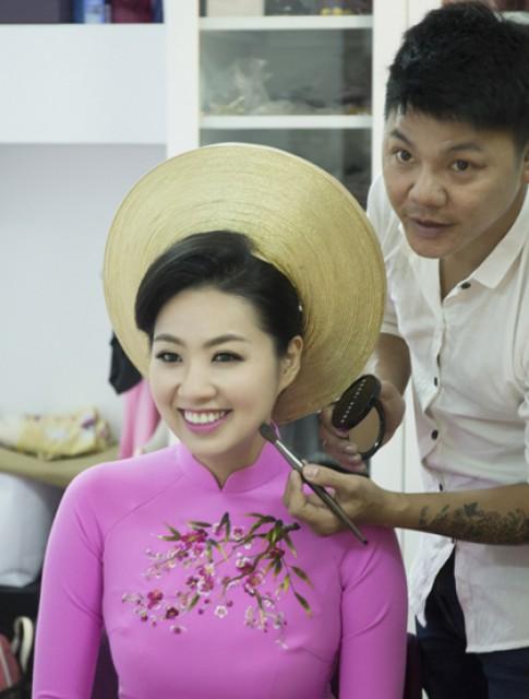 Cô dâu Lê Khánh cuốn hút với lối trang điểm nhấn vào mắt