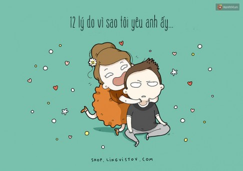 """Co gai dang yeu nao cung phai xem bo tranh """"12 ly do toi yeu anh"""" cuc ky de thuong nay"""
