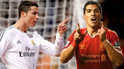 Cuộc đua Chiếc giày vàng châu Âu: Suarez lép vế Ronaldo