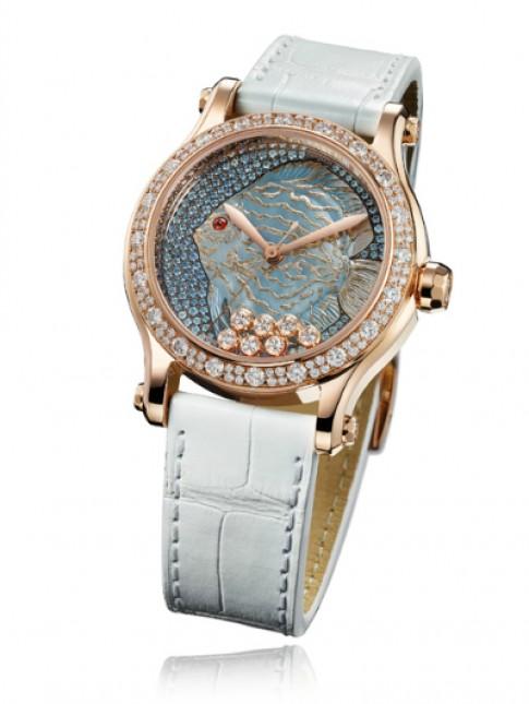Đồng hồ kim cương Happy Fish 1,3 tỷ của Chopard