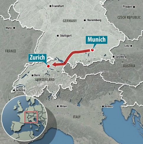 Du khách tiệc tùng ở Đức, thức dậy ở Thụy Sĩ