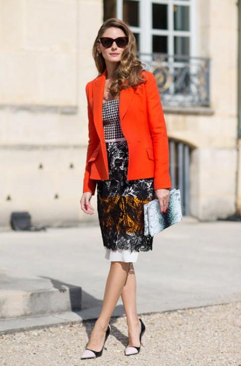 Fashionista đẹp thanh lịch tại Paris Fashion Week