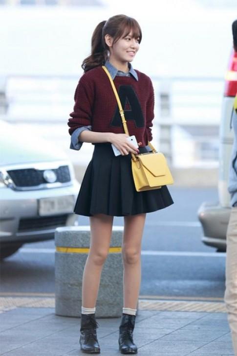Gu mặc khỏe khoắn của 'cô gái chân dài nhất' SNSD