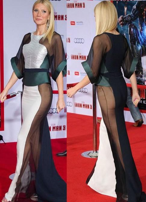 Gwyneth Paltrow xấu hổ vì mặc váy xuyên thấu