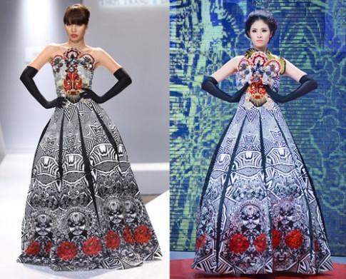 Hà Anh diện lại váy từng khiến Ngọc Hân gặp sự cố