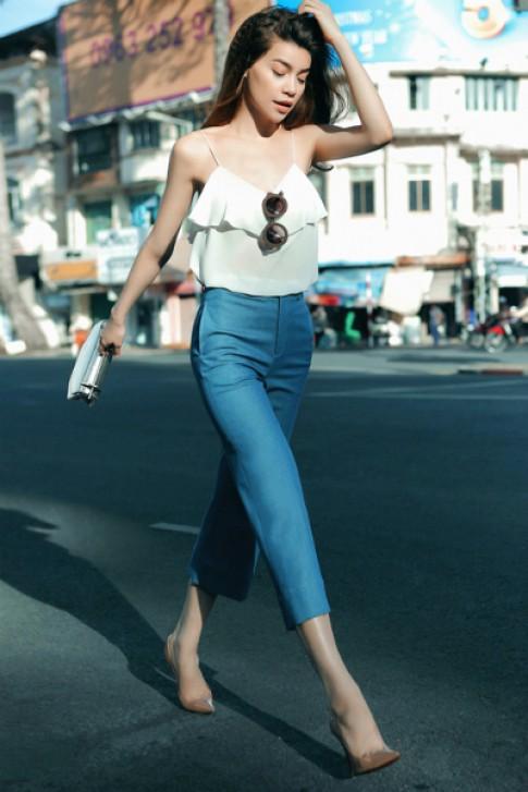 Hồ Ngọc Hà xuống phố với trang phục của Kin Concept