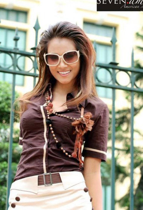 Hoa hậu Biển Vân Anh tung tăng cùng trang phục 7.AM