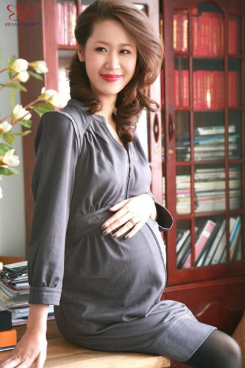 Hoa hậu Dương Thùy Linh quyến rũ hơn khi mang bầu