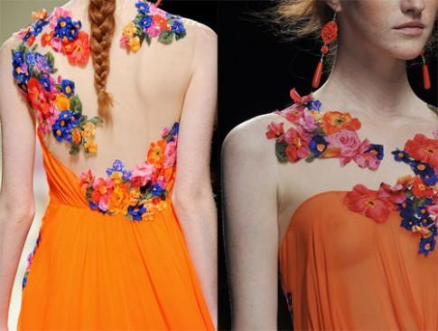 Hoa lá 'nở rộ' ở các tuần lễ thời trang Xuân