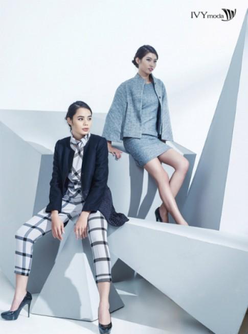 Họa tiết kẻ Windowpane trong BST mới của IVY moda