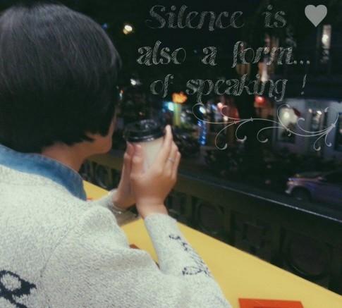 Im lặng còn là thể hiện sự tôn trọng lẫn nhau