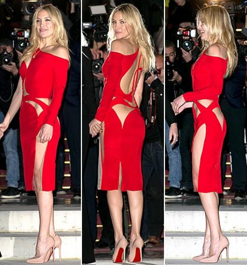 Kate Hudson diện váy cut-out táo bạo
