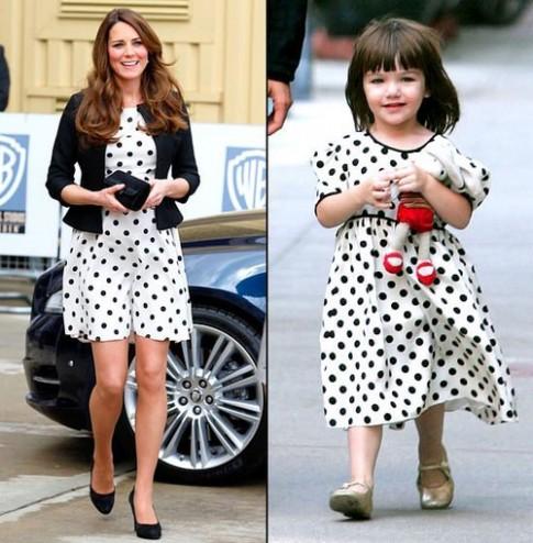 Kate Middleton và Suri Cruise 'đụng phong cách'