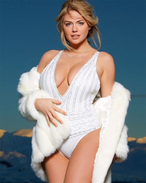 Kate Upton tê tái vì mặc bikini ở Nam Cực