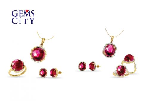 Khám phá vẻ đẹp trang sức ruby, sapphire