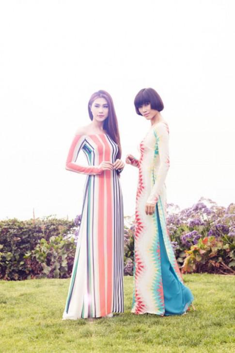 Kim Dung, Trang Lạ chụp áo dài trên đất Mỹ