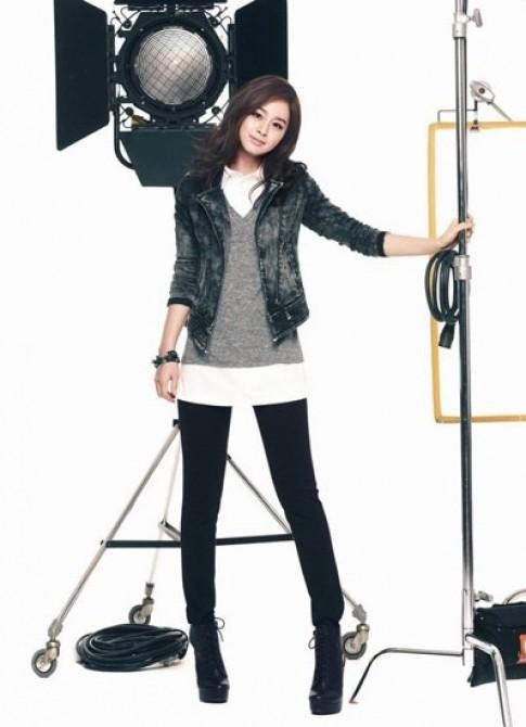 Kim Tae Hee khoe nét thanh tân
