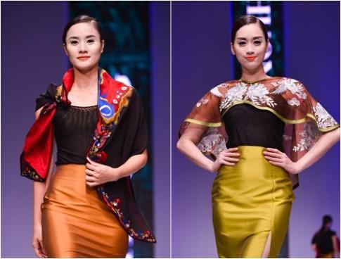 Lan Hương huy động 200 thợ thêu khăn cho bộ sưu tập mới