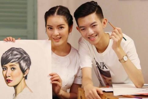 Lý Nhã Kỳ mời họa sĩ 15 tuổi vẽ tranh cho show thời trang