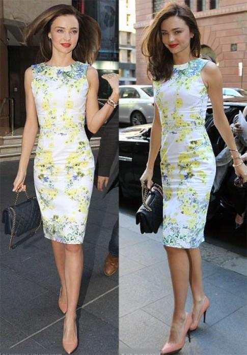 Miranda Kerr rạng rỡ với váy hoa