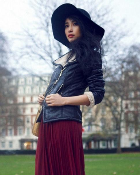 Mỹ nhân gốc Hoa sang trọng và nữ tính với áo khoác (2)