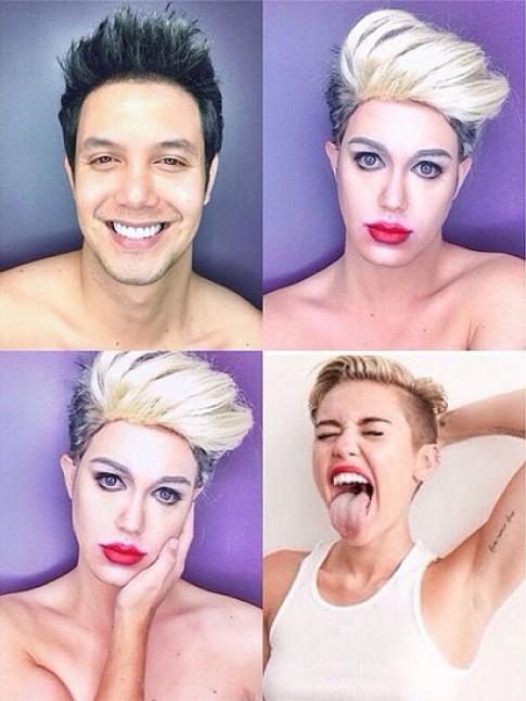 Nghệ sĩ trang điểm biến mình thành người nổi tiếng (2)