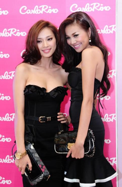 Ngô Thanh Vân và Thanh Hằng đọ dáng cùng đầm đen