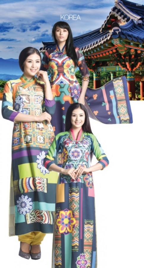 Ngọc Hân thiết kế áo dài mang nét đẹp Hàn Quốc