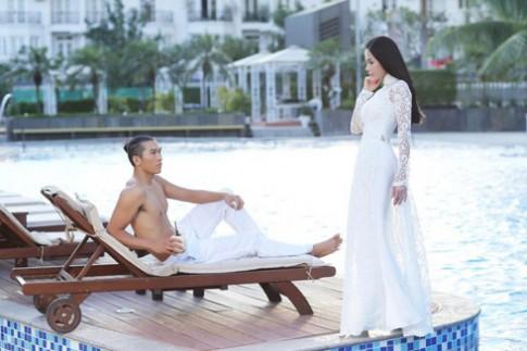 Ngọc Tình say đắm tà áo dài trắng